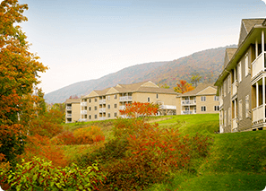 a resort in the fall in the Berkshires